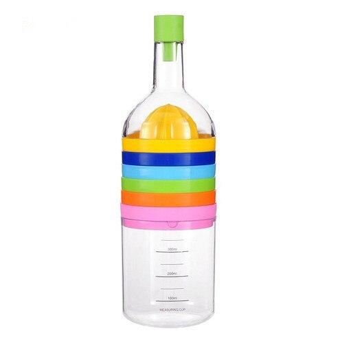 1PC 8 In 1 Kitchen Tools Bottle Shape Professional Slicer Grater Grinder Funnel Measuring Cup Professional Gadget OK 0503 1