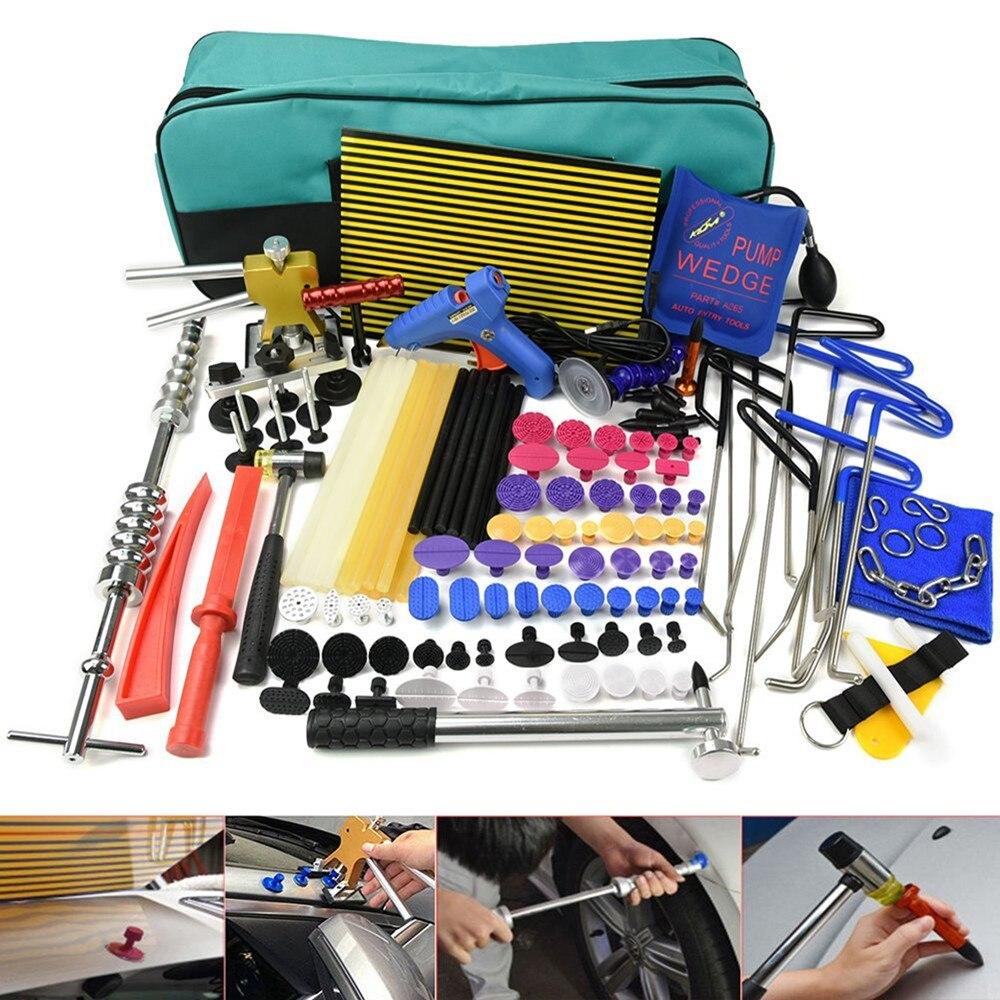 PDR tools Paintless Dent Repair Tools Kit Rod hooks Dent lifter Glue gun Dent PDR Puller