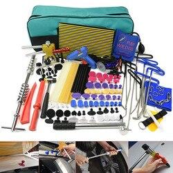 PDR tools Paintless Dent Repair Tools Kit Rod hooks Dent lifter Glue gun Dent PDR Puller Glue Tabs LED Line Board Slide hammer