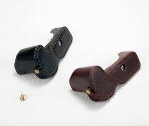 Image 4 - حقيبة كاميرا كانون EOS R ، جلد طبيعي ، نصف جسم ، فتحة بطارية