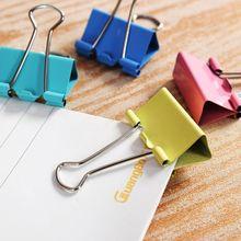 JESJELIU 5 шт цветные металлические скрепки для бумаги 25 мм канцелярские принадлежности для офиса и школы разные цвета