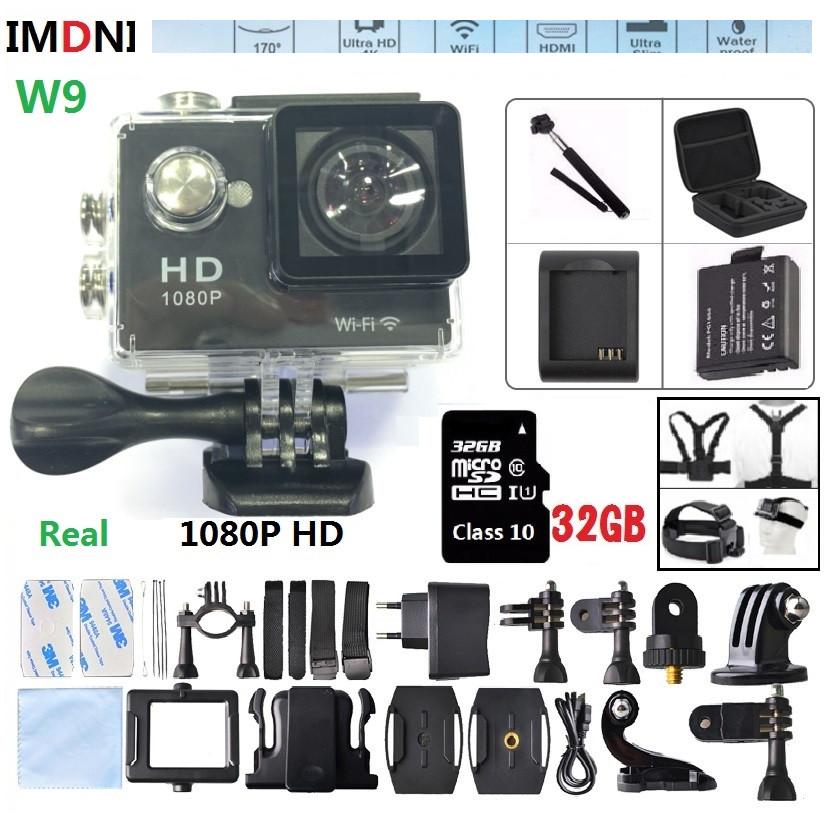 Prix pour 1080 P Action caméra 1080 p Full HD Wifi 2.0 LCDW9 Sport Caméra vidéo 720 P Mini Étanche 30 m caméscope pro sport aller caméra