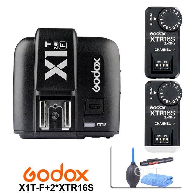 Godox X1T-F TTL 2.4G Wireless Trigger  for Fujifilm + 2X XTR-16S Flash Receiver for V850/V860C/V850II/V860IIC/V860N/V860II-F