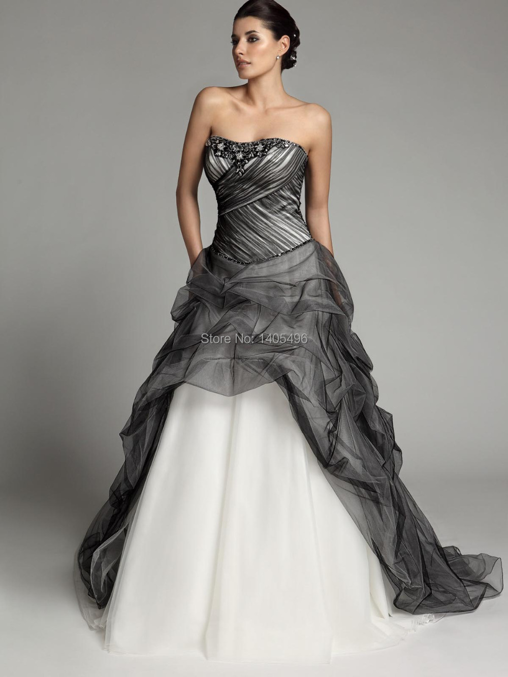 Black And Ivory Wedding Gowns
