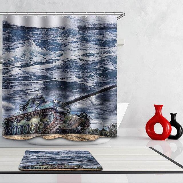 Monily Polyester Waterdichte Olie Verf Oceaan Scenic Tank ...