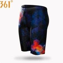 361 Мужская одежда для плавания, обтягивающие Плавки размера плюс, быстросохнущие Гидрошорты для плавания, соревнований, гоночных купальных костюмов, одежда для плавания для мальчиков, длинные штаны