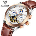 Top Brand Luxury Cadisen Watch Men Tourbillon Calendar sport Automatic Mechanical Watches military Wrist watch relogio masculino