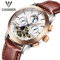 Top Brand Luxury Cadisen Watch Men Tourbillon Calendar sport Automatic Mechanical Watches military Wrist watch relogio masculino