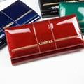Genuine Leather Women Multifunction Wallet Clutch Bags Luxury Women Wallets Patent Leather Designer Brand Lady purse