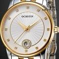 Senhoras Safira Relógio de Quartzo Mulheres Rhinestone Vestido Casual Mulheres Relógio De Pulso Relojes Mujer à prova d' água de Aço Inoxidável