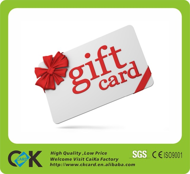 Standard size plastic blank gift card printing-in Business Cards