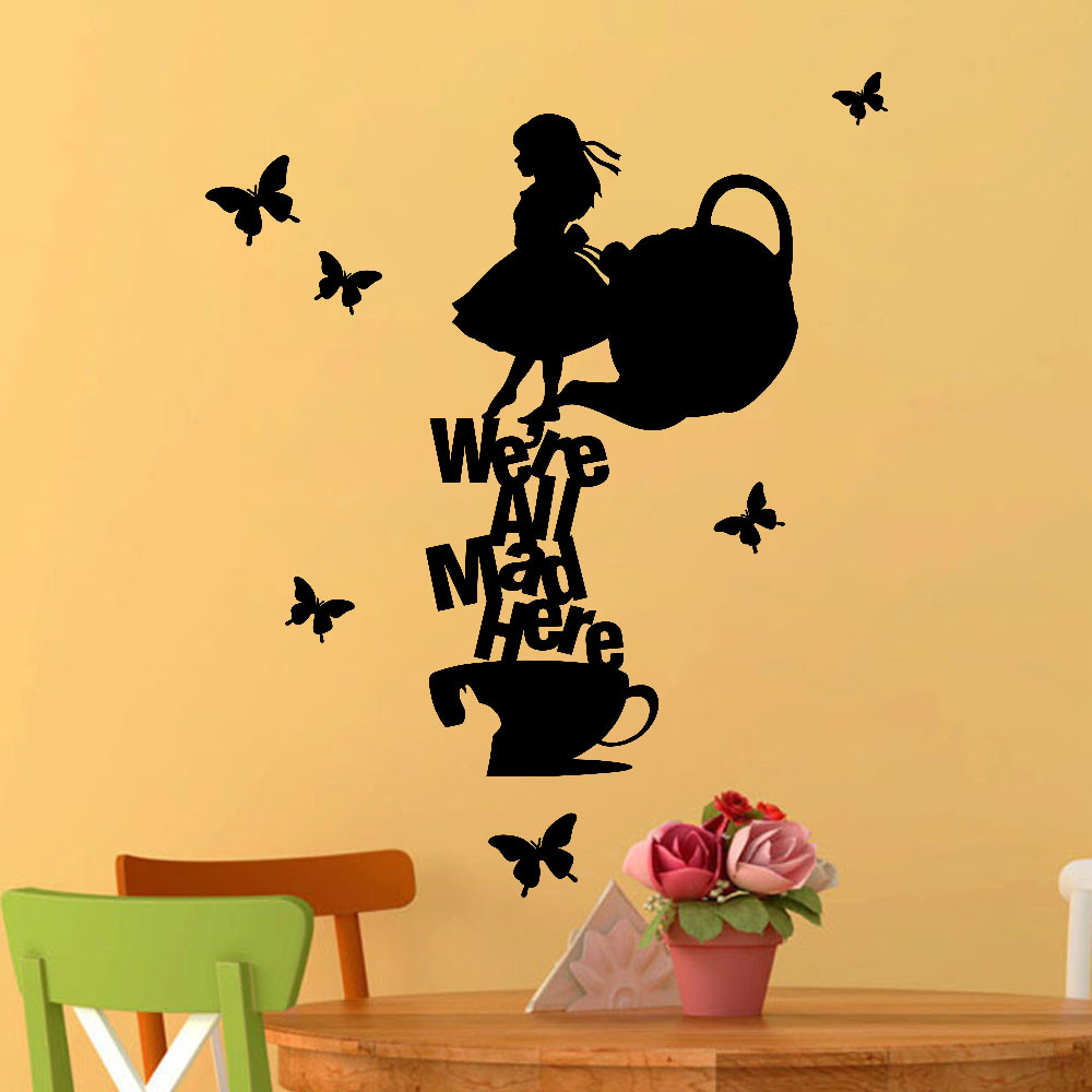 Removable Art Vinyl Mural Text Word We\'re All Angry Here Background ...