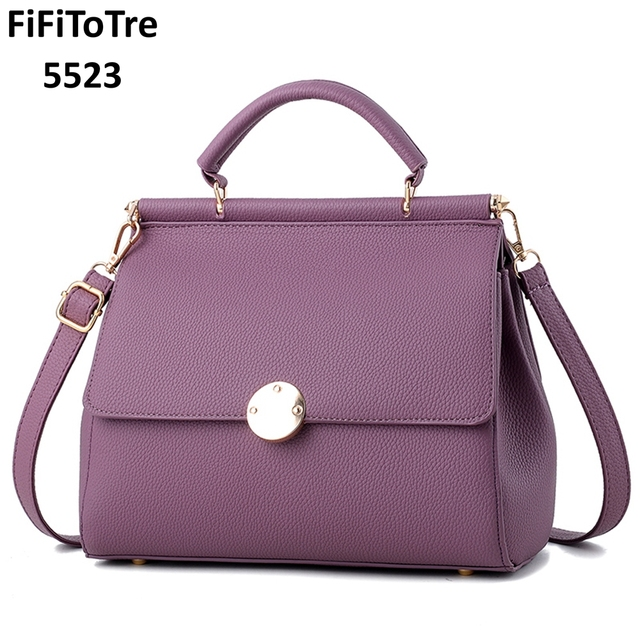 3dbb71587fa US $29.99 50% OFF|5523 Famous brands 2019 NEW Fashion top quality leather  women Handbags retro shoulder bag HOT Sale pack Saddle bag purple-in ...