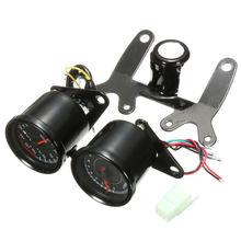 Universal Motos LED Backlight Odómetro & Tacômetro Velocímetro Bitola Dupla