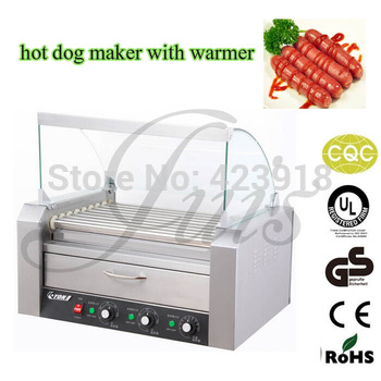 commercial electric 11 roller GRILL SNACK MACHINE with  8L food bread warmer Hot Dog machine