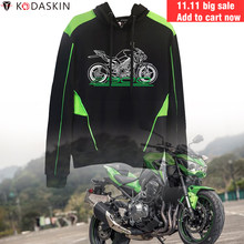 KODASKIN Racer Motorcycle Hoodies Protective Gears Hooded Coat Hoody Sweatshirts Men for Kawasaki Z900(China)