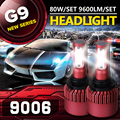 Auxbeam CREE SMD Chips Car 9006 Headlight Bulbs + Cooling Fan 6500K 80W/pair HB4 Led Fog Lamps for SUV Single Beam Car Bulb Kits