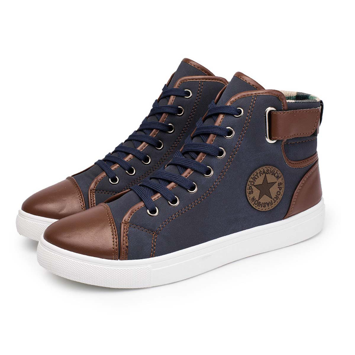 Men s Casual Shoes Summer Breathable Canvas High Top Shoes Male Fashion  Winter Warm Lace-up Comfort Non-slip Flats Footwear ab0a8644a