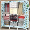 Cotton cloth storage wardrobe assembly wardrobe