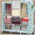 Cotton cloth storage wardrobe assembly wardrobe