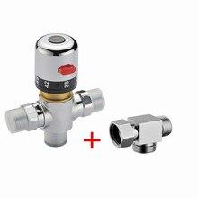 Бесплатная доставка 1/2 «медь Термостатический Смесительный Клапан с тремя способ адаптер Термостатический Клапан Для Электрических Водонагревателей AF009