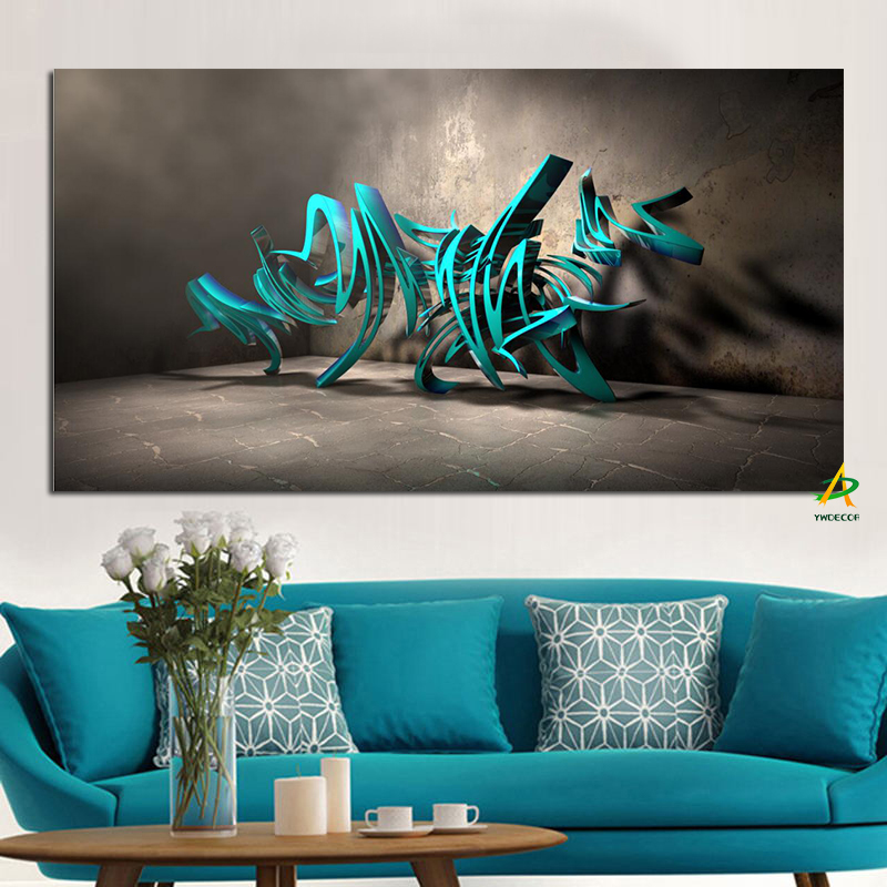 3d abstract canvas background painting modern wall poster decor dinosaur living
