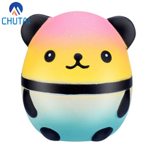 Kawaii Jumbo Galaxy Panda Bear Egg Squishy Slow Rising Squeeze Toys Soft Stretchy Scented Stress Relief Toy Kids Grownups Gift