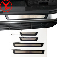 YCSUNZ car door sill protector led door sill scuff plate lights car accessories For ford everest endeavour 2016 2017 2018 2019