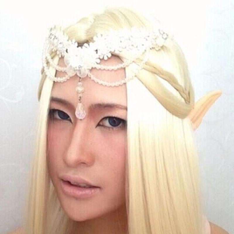 Latex Fairy Pixie Elf Ears Cosplay Accessories LARP Halloween Party Latex Soft Pointed Prosthetic Tips Ear PP 011-in Party Masks from Home u0026 Garden on ...  sc 1 st  AliExpress.com & Latex Fairy Pixie Elf Ears Cosplay Accessories LARP Halloween Party ...