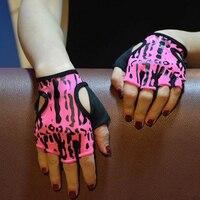 Супер бренд тренажерный зал Средства ухода за кожей здания Перчатки для фитнеса Для женщин розовый Леопардовый dumbebell Вес подъема Кроссфит П...