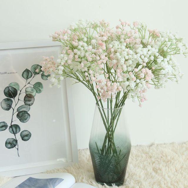 QiARSOYOO Pretty Artificial Gypsophila Flowers Babysbreath Wedding  Centerpieces Fake Flowers Garden Decoration Home Decor