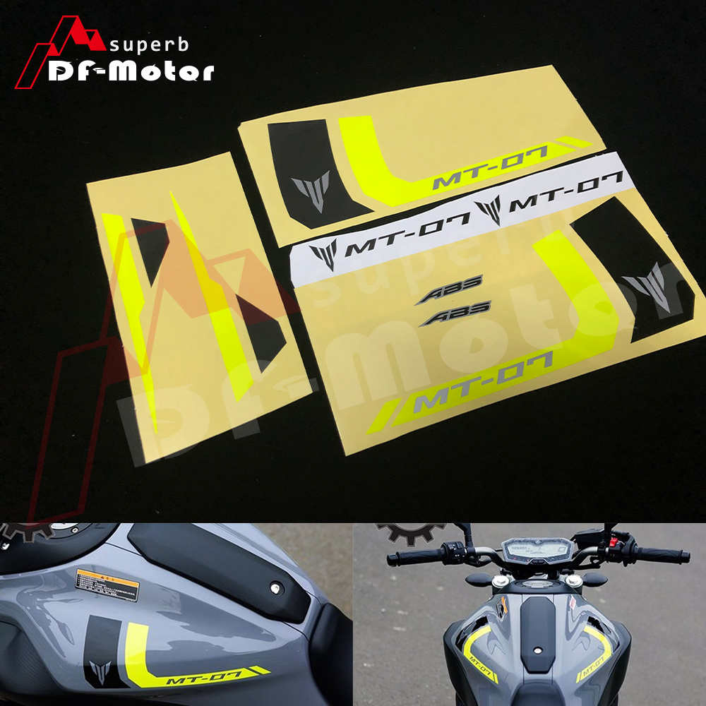 Reflective Stickers  Decals Motorcycle Fit For YAMAHA MT 07 MT07 Decals Stickers DIY Yellow Black High Quality Waterproof