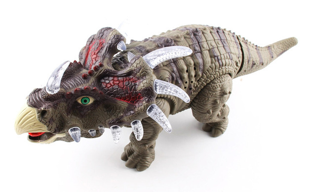 electric triceratops dinosaurs model walking with sound model light