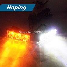 Hoping 2pcs car led bulb dual color super bright led daytime running lights amber  white  waterproof RDL lamp