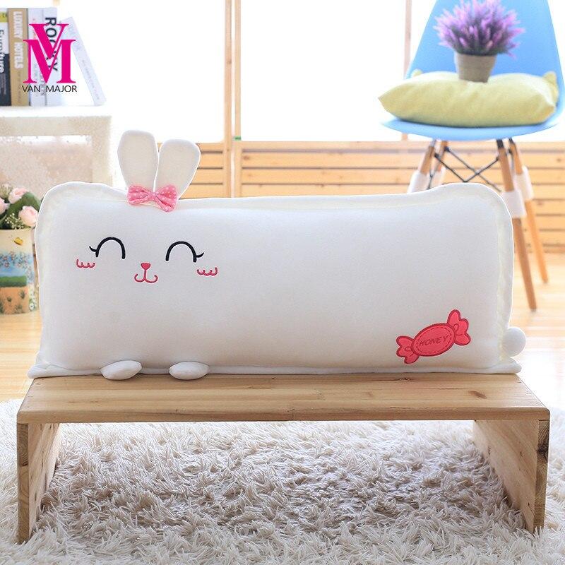 40*20cm Cute Soft Animal Plush Pillows Staffed Cartoon Rabbit Dog Pig Plush Toys Kids Doll Home Decoration Kawaii Gift