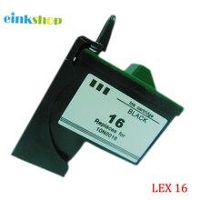 1PK  Black Ink Cartridge for Lexmark 16 10N0016 For Z13 Z23 X1140 X1110 X1150 X1160 X1180 X1185 X2230 X2240 X2250 X74
