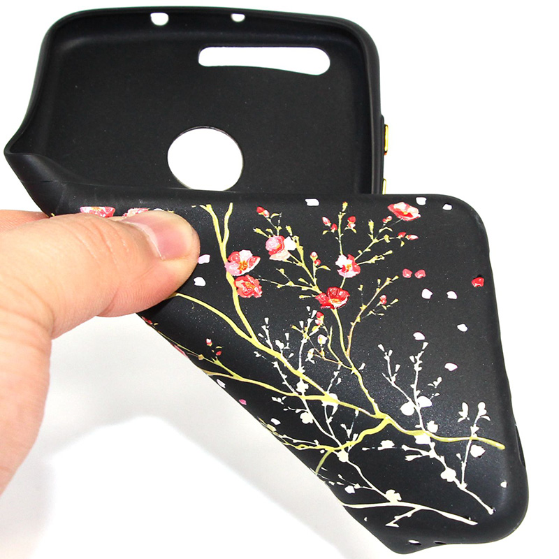 3D Relief flower silicone case huawei honor 8 (30)