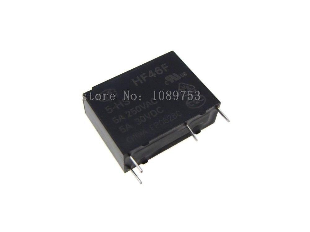 10Pcs 24VDC 5A Power Relay HF46F-24-HS1 4 Pins