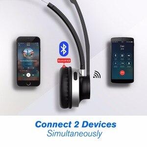 Image 4 - Mpow HC3 Bluetooth 5.0 casque double bruit suppression Microphone clair sans fil et filaire casque pour ordinateur portable Center dappels téléphones