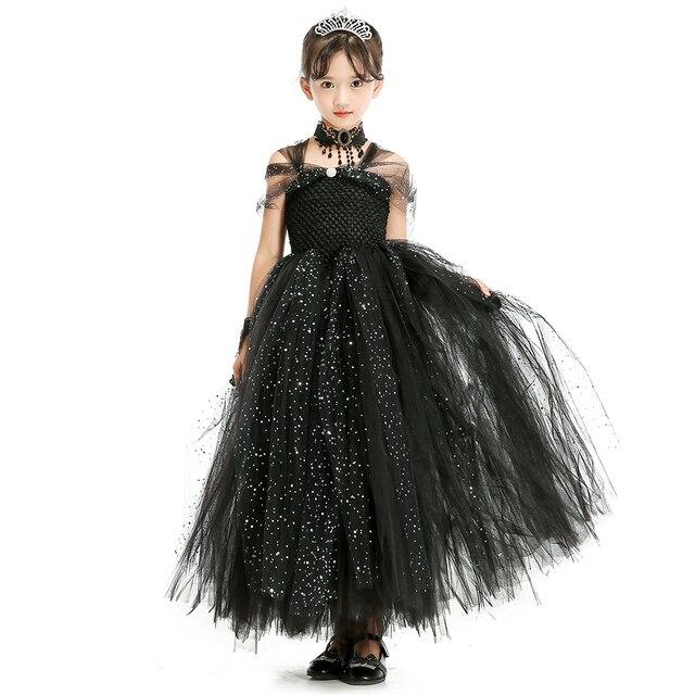 Kleider Für Weihnachten.Us 20 28 24 Off Elegante Schwarzfunken Glänzende Baby Mädchen Tutu Kleid Für Partei Schwarze Prinzessin Kinder Mädchen Kleider Weihnachten