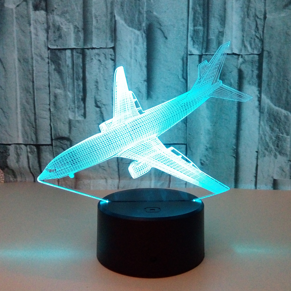 Chambre Complete Led Us 12 20 Off Landing Aircraft Colorful 3d Lamp Led Touch Illusion Colorful Table Lamps For Living Room Deco Enfant Chambre 3d Nightlight In Led