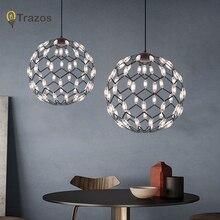 Luxury Modern chandelier LED circle ring light for living room ironLustre Chandelier Lighting white black 220v
