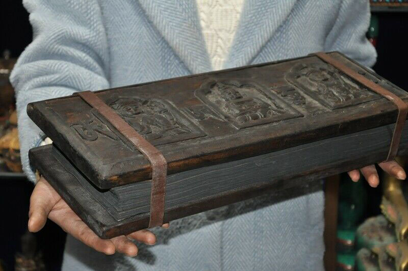Tibet Tantra Temple Old Wood Xuan paper Pray Buddhist scriptures Sutra Book Set