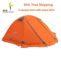 DHL free shipping FLYTOP Winter tent 2 persons Tourist double layer windproof waterproof professional camping tent tienda FT001