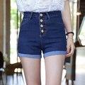 2016 hot New Fashion women jeans Summer High Waist Denim Shorts ladies Slim bottoms Casual Female Bule Short pants (25-34) JN034