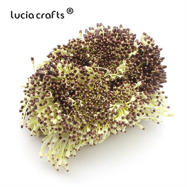 288 шт 60 мм разноцветные варианты наконечник пестик тычинка цветок тычинка украшения торта двойная головка тычинки D0501 - Цвет: color 4