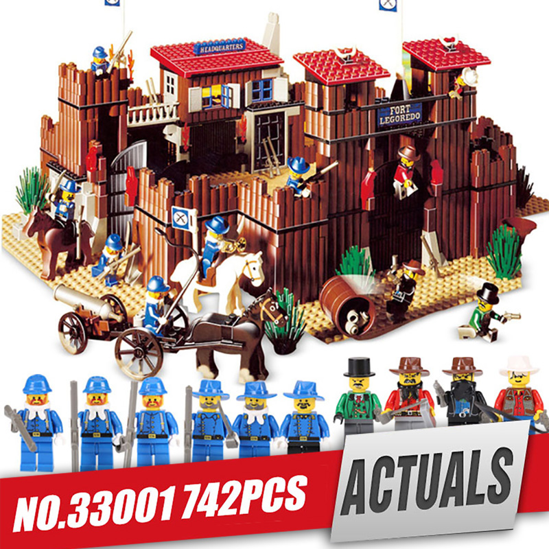Lepin 33001 Genuine Building Series The Idian Cowboy`s Castle Set Educational Building Blocks Bricks Toy Model Gift legoing 6769