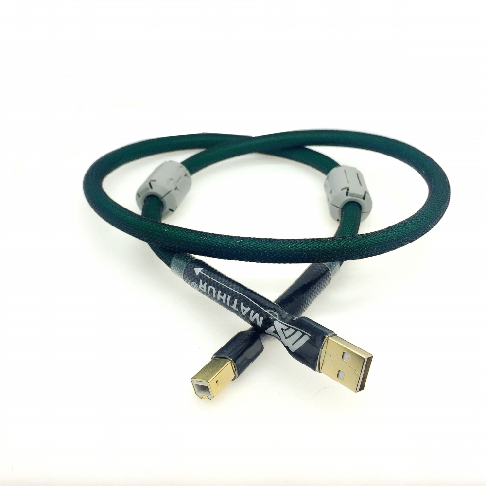 MATIHUR pure copper 4 core silver plating USB Cable DAC line Type A-B A To B Digital Audio Mcintosh HIFI
