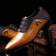 Fashion Genuine Leather Men Shoes Luxury Brand Lace Up Casual Business Men Formal Dress Shoes Oxford Leather Wedding Loafers