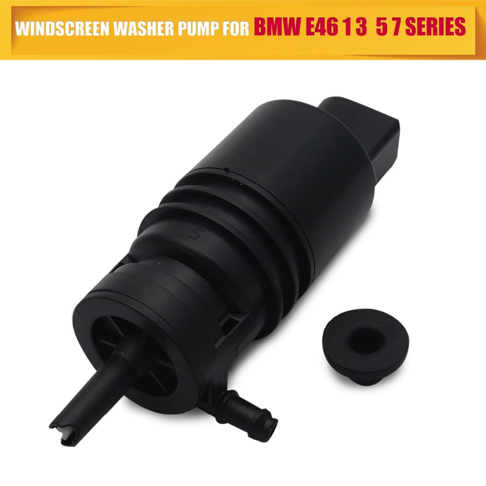 Fits BMW 3 Series E46 Front /& Rear Twin Outlet Windscreen Window Washer Pump
